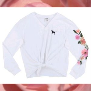 Victoria's Secret Pink Floral Long Sleeve Tee